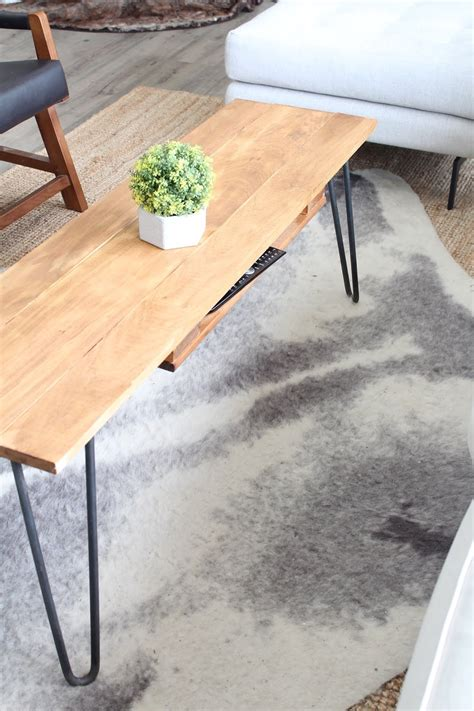 Diy Coffee Table Plans Hairpin Legs Ikea