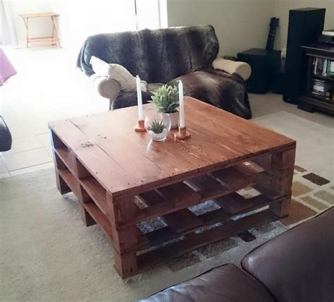 Diy Coffee Table Projects With Pallets