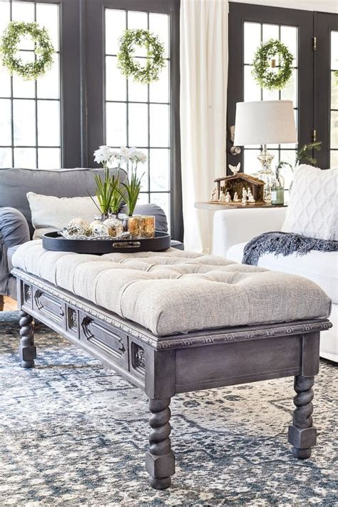 Diy Coffee Table Tufted Ottoman