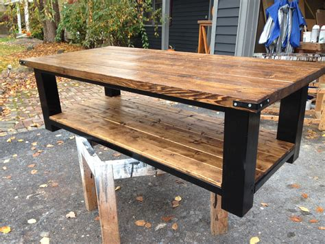 Diy Coffee Table With 4x4 Legs