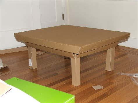 Diy Coffee Table With Cardboard
