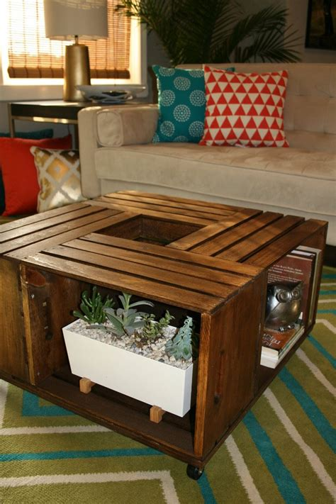 Diy Coffee Table With Crates