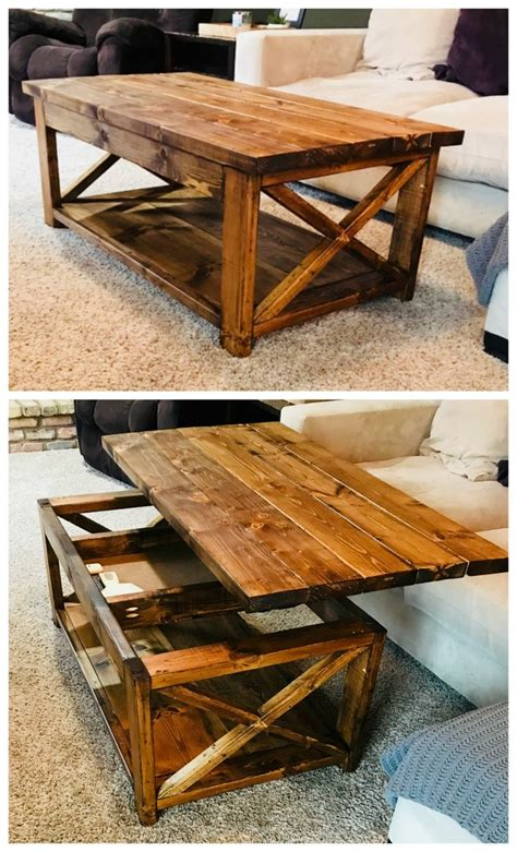 Diy Coffee Table With Hinged Top