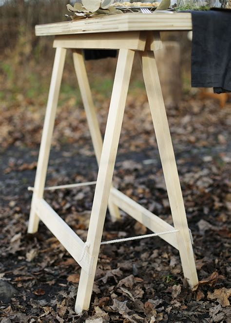 Diy Collapsible Sawhorse Table Supports