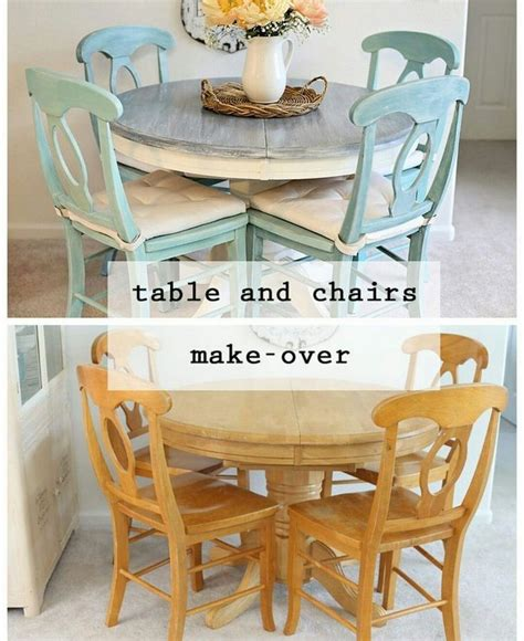 Diy Colorful Dining Table And Chairs