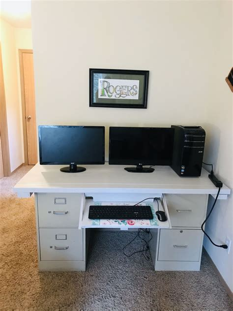 Diy Computer Desk With File Cabinet