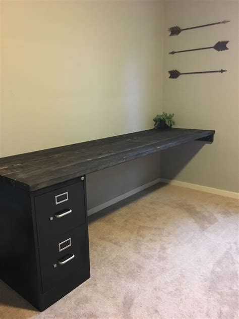 Diy Computer Desk With Filing Cabinets