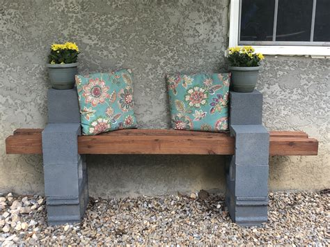 Diy Concrete Bench With Cushions