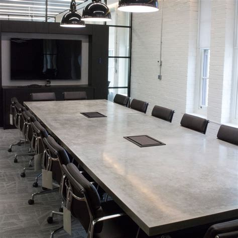 Diy Concrete Conference Table