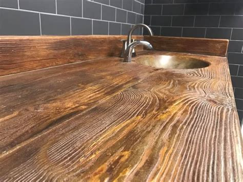 Diy Concrete Countertops Look Like Wood