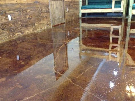 Diy Concrete Floor Stain Interior