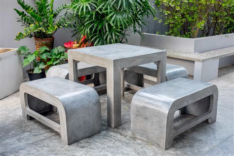 Diy Concrete Garden Furniture