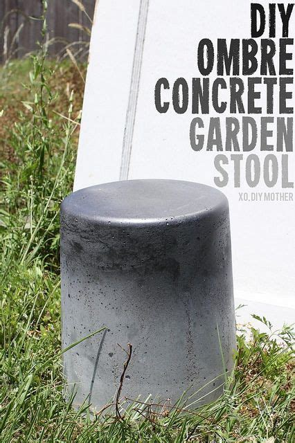 Diy Concrete Garden Stool