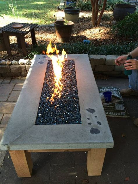 Diy Concrete Gas Fire Table