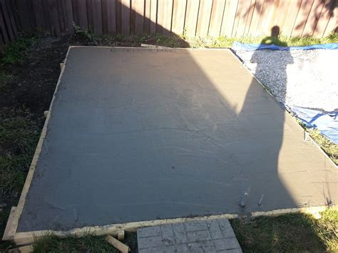 Diy Concrete Pad For Shed