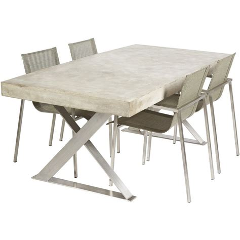 Diy Concrete Table Polishing Stainless Steel
