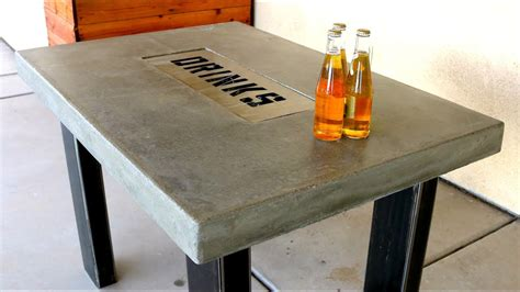 Diy Concrete Table Youtube