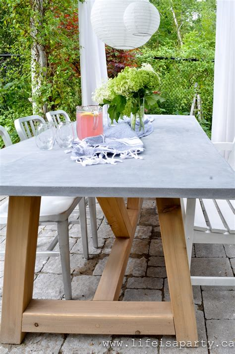 Diy Concrete Table Youtube Houzz