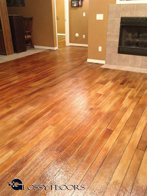 Diy Concrete Wood Flooring Stain