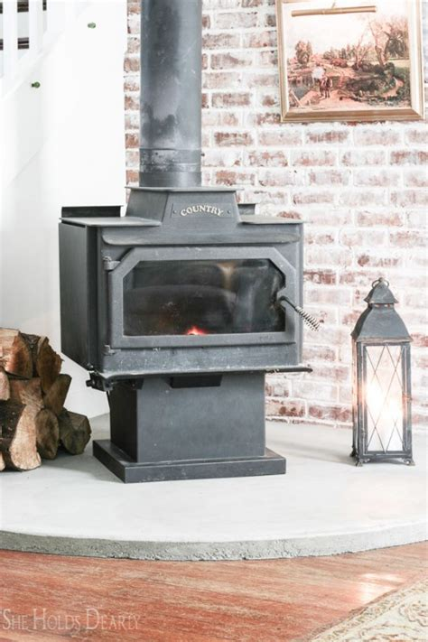 Diy Concrete Wood Stove Hearth Tiles