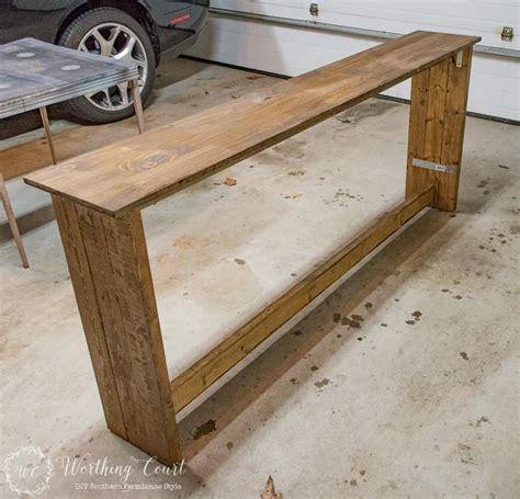 Diy Console Table How To Build Not Sturdy Help