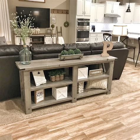 Diy Console Table Plans Farm Style Living Room