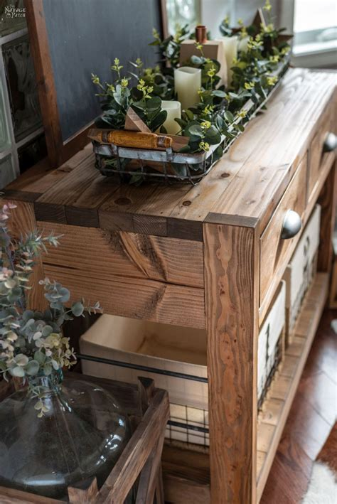 Diy Console Table Plans Hinges
