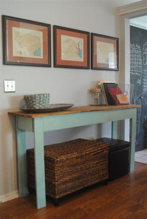 Diy Console Table With Storage