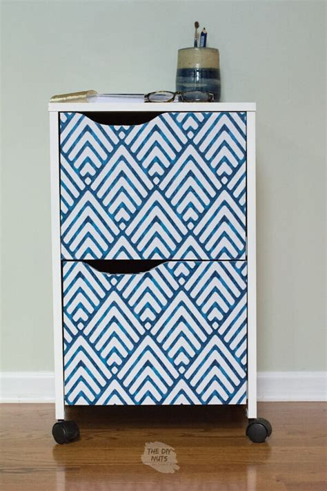 Diy Contact Paper File Cabinet
