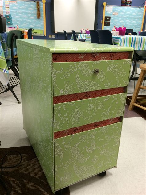 Diy Contact-paper File Cabinet