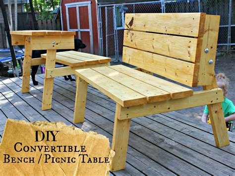 Diy Convertible Bench Picnic Table
