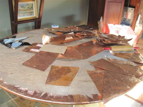 Diy Copper Topped Table
