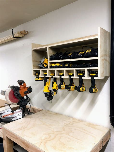 Diy Cordless Drill Storage And Charging Station