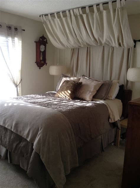 Diy Corner Bed Curtain Headboard Bedroom