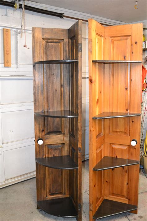 Diy Corner Cabinet Using Old Door