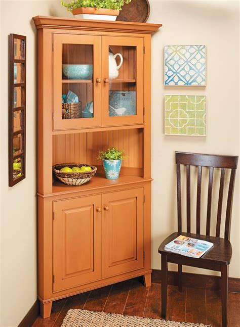 Diy Corner Cabinet With Plans