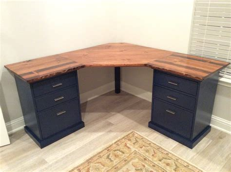 Diy Corner Desk From File Cabinets