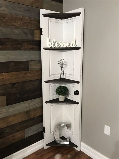 Diy Corner Shelf From Old Door