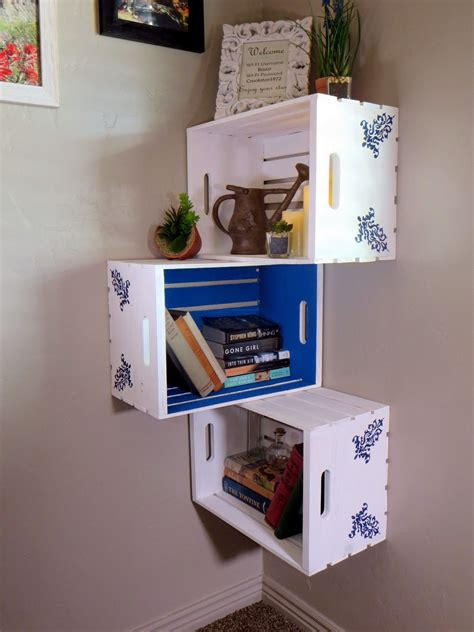 Diy Corner Shelves Crate