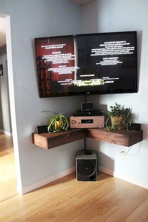 Diy Corner Wall Shelf For Small Tv