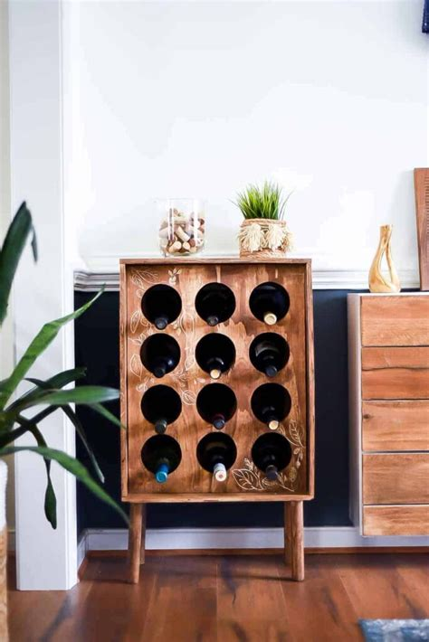 Diy Corner Wine Rack