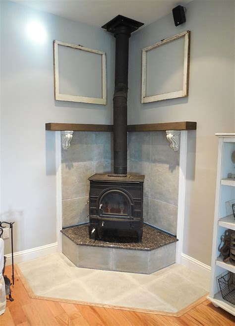 Diy Corner Wood Stove Mantels