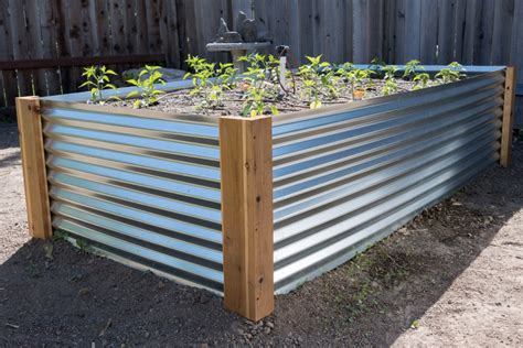 Diy Corrugated Raised Garden Bed
