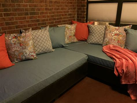 Diy Couch Out Of Twin Beds