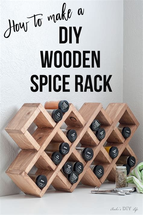 Diy Counter Top Spice Rack Plans