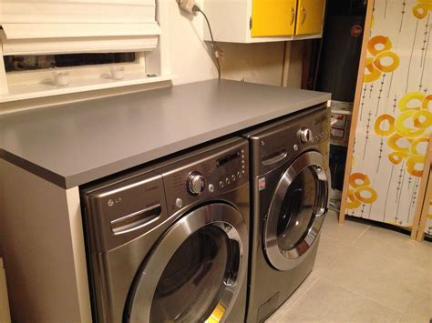 Diy Countertops Over Washer And Dryer
