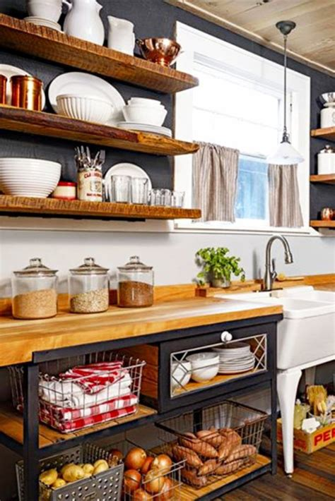Diy Country Kitchen Shelves