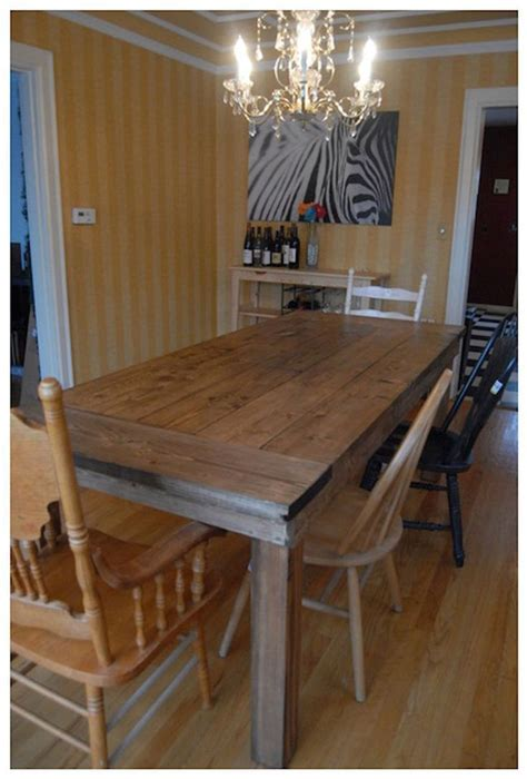 Diy Country Kitchen Table Plans
