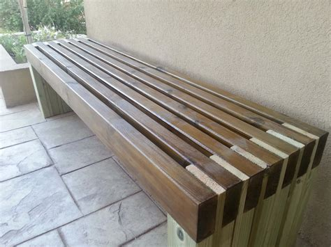 Diy Covered Bench Construction