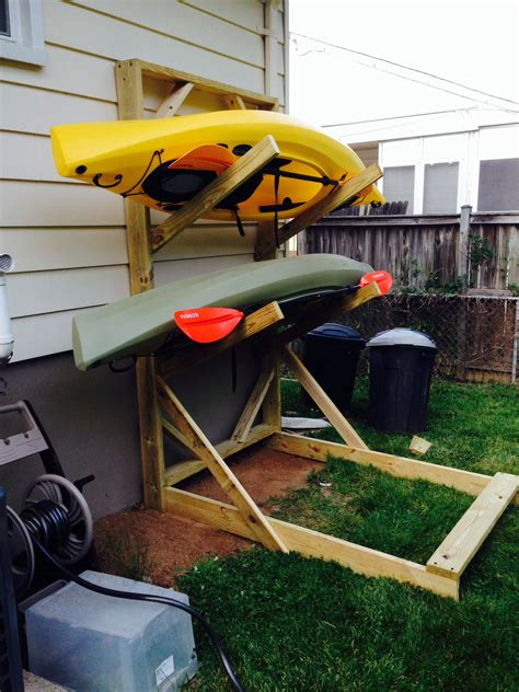 Diy Covered Outdoor Kayak Rack